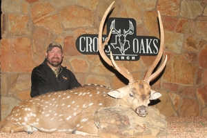 Jeremy with his axis buck hes worked hard to get!