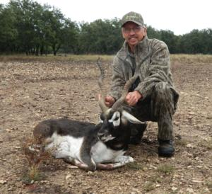 Awesome Blackbuck taken by Bernie White of Mississippi on his second trip to Cross Outfitters!