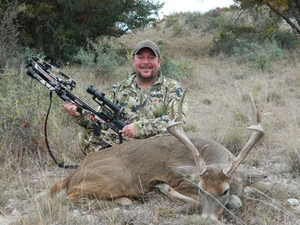 10 Point buck taken by Jeremy Guillory with a Crossbow.