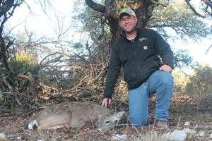 Chris with his 3rd doe of the trip.