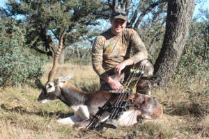Dustin Vick Took this Management Blackbuck with a Bow on a spot and stalk hunt!