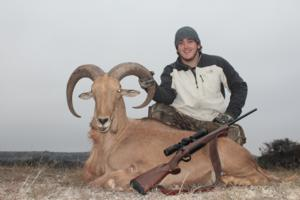 Aoudad taken on the last day by Monroe Luther.
