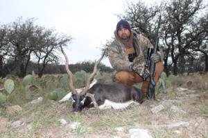 Tereso Cardenas with his Blackbuck. Great job for a first time hunter!