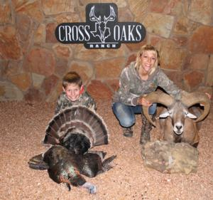 Mom and Son celebrating a great day of hunting!