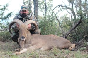 Rick Lawson with his Aoudad after a great spot and stalk hunt.