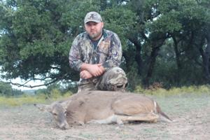 Robert with his doe.