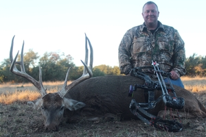 Great Bow Shot made by Bobby Guillory on this 12 point 151 inch buck.