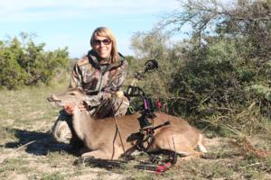 Jamie Silva with her first ever bow Kill, a whitetail Doe. Congrats Jamie!