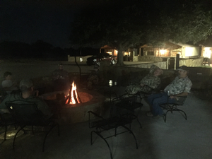 Nice evening around the fire.