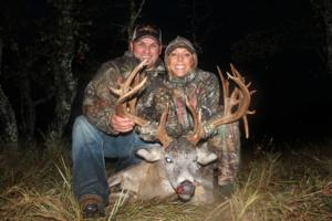 Jesse and Jamie Silva with Jamie's huge 208 inch Trophy Whitetail Buck!
