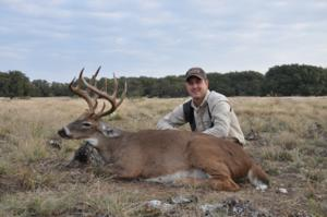 14 point 160 inch buck taken by Cody Guillory of Louisiana.