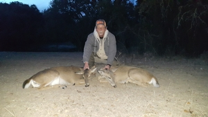 2 Whitetail Does taken by Charlie Montgomery.