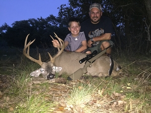 Easton Silva with his first whitetail buck! 131 5/8 10pt! Proud Dad Jesse Silva got to watch him make a great shot. Congrats Easton we are all proud of you!